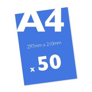50 A4 Leaflets