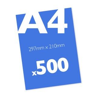 500 A4 Leaflets