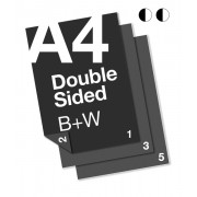 A4 B+W Document: 2 Sided
