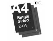 A4 B+W Document: 1 Sided
