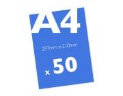50 x A4 Colour Leaflets